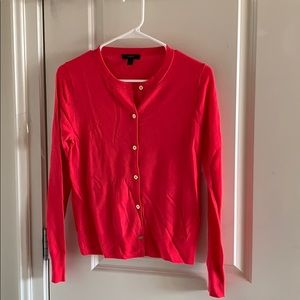 J crew pinkish red merino wool cardigan